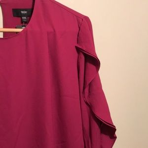 Mossimo Supply Co. Dresses - NWT Berry Ruffle Party Dress